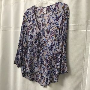 Xhilaration baby doll paisley floral top